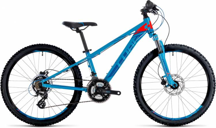 Cube Kid 240 Disc blue n flashred 2018 - Bicicleta Niños 24 Pulgadas