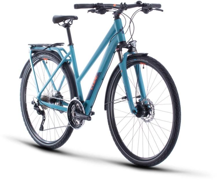 Cube Kathmandu Pro blue n orange 2020 - Bicicleta Trekking Damas