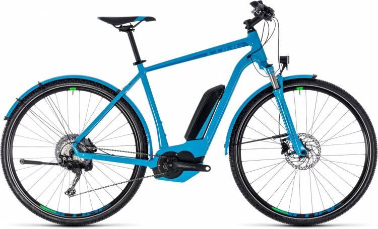 Cube Cross Hybrid Race Allroad 500 blue n green 2018 - Bicicleta-Eléctrica Cross Hombres