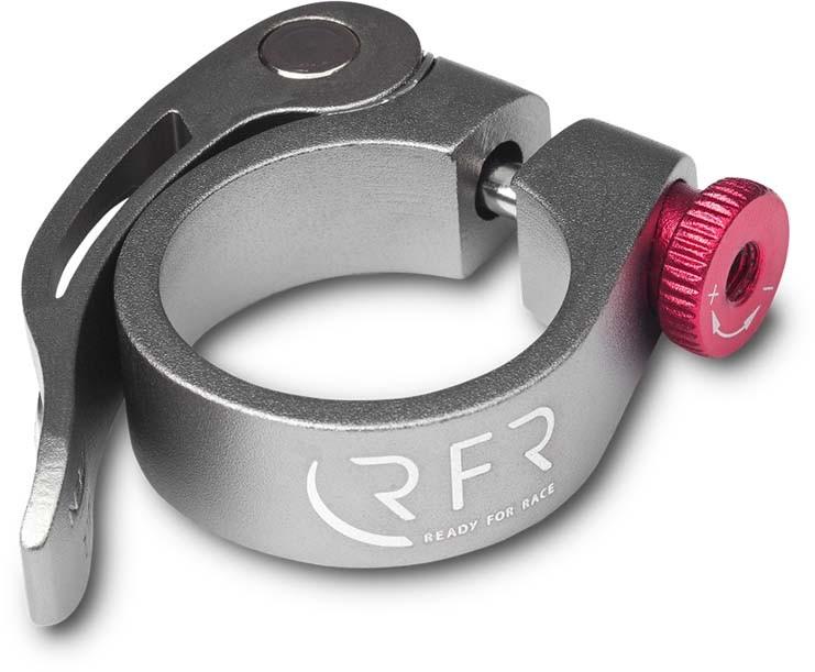 Abrazadera de sillín RFR con cierre rápido 34,9 mm gris n rojo