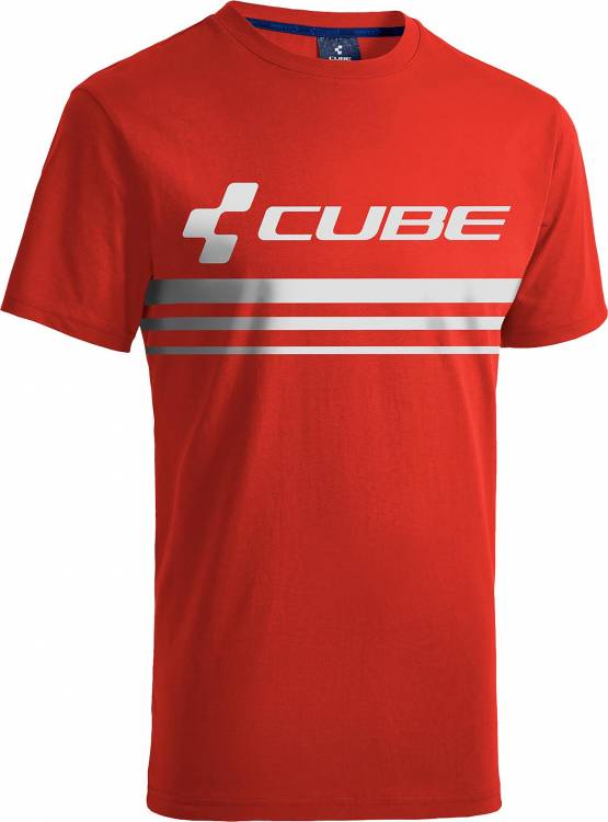 Playera Cube Race Pilot rojo y blanco