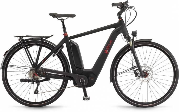 """Sinus Ena10 500Wh 28"""" schwarz matt 2017 - Bicicleta-Eléctrica Trekking Hombres"""