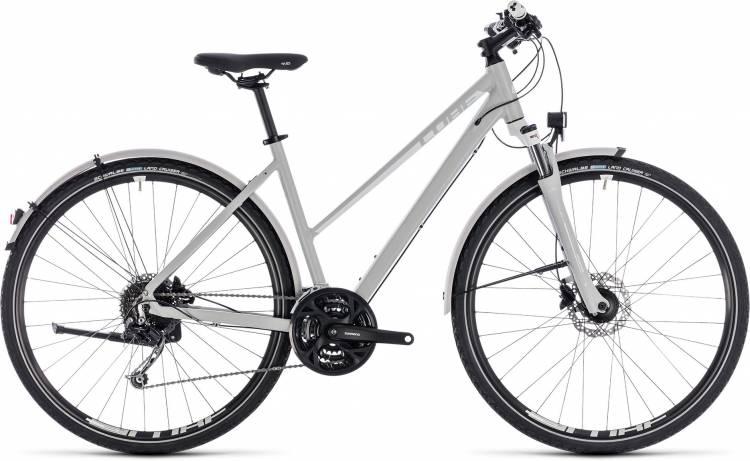 Cube Nature Pro Allroad bright grey n white 2018 - Bicicleta Cross Damas Trapecio