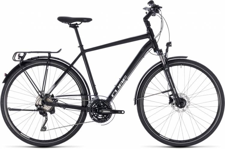 Cube Touring SL black n white 2018 - Bicicleta Trekking Hombres