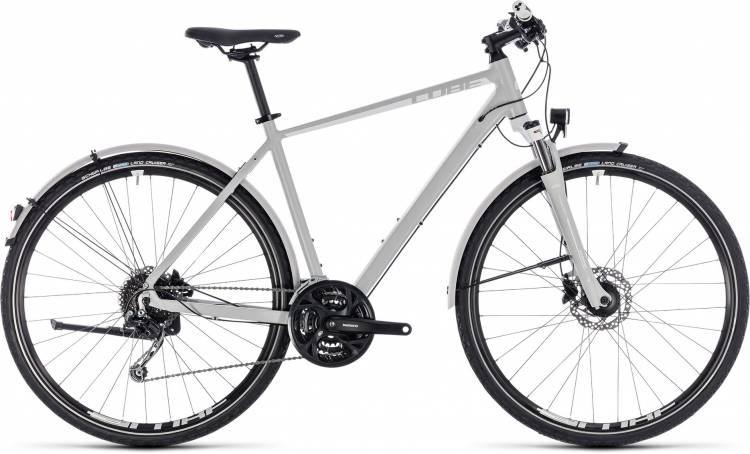 Cube Nature Pro Allroad bright grey n white 2018 - Bicicleta Cross Hombres